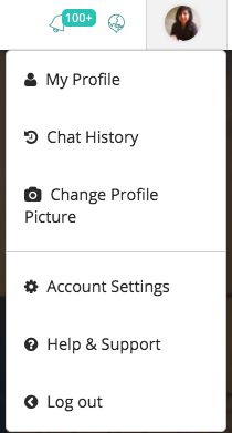 Chat History Drop Down Menu