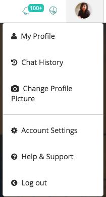 Chat History Drop Down Menu