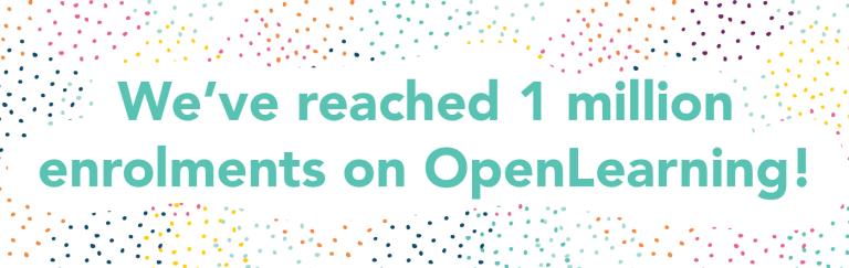 OpenLearning 1 Million Enrolments