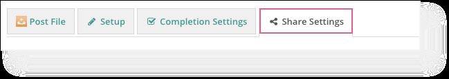 new share settings