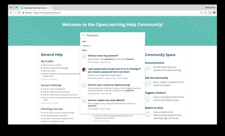 OpenLearning Help Community Screen 4