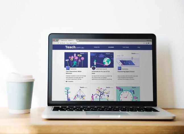 course list - laptop